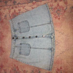 BDG light blue button up skirt